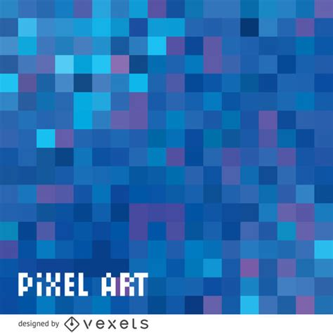 abstract blue pixel background vector