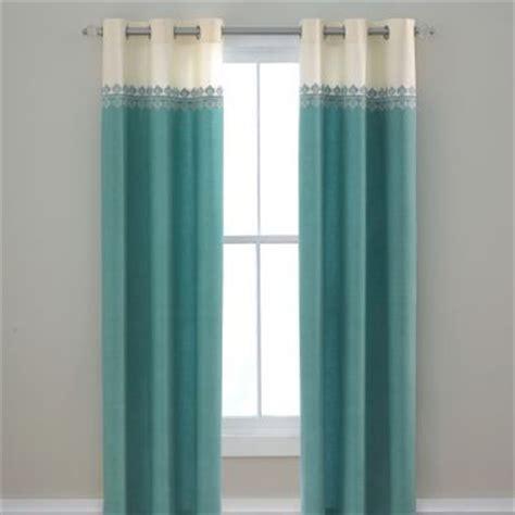 turquoise white cream ivory  white curtains drapes teen