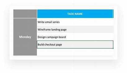 Task Template Tasks Status Excel Tracking Tracker