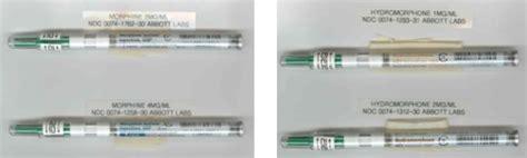 inadvertent mix   morphine  hydromorphone  potent