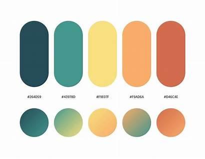Gradient Palettes Palette Orange Corresponding Yellow Colour