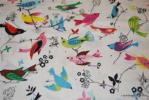 T111 Vintage Bird June Song Quilt Fabric Cotton Fabric