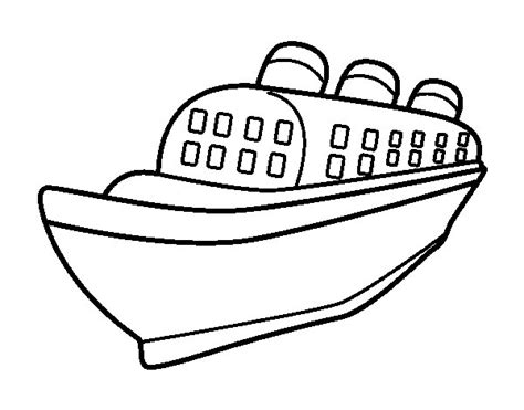 Barco Dibujo Para Pintar by Dibujo De Barco Transatl 225 Ntico Para Colorear Dibujos Net