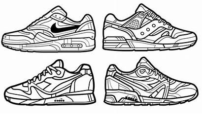 Coloring Nike Chaussure Coloriage Chaussures Converse Ausmalbilder