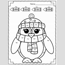 Kindergarten Winter Word Work  * Prek And Kindergarten Reading Language Arts Ideas