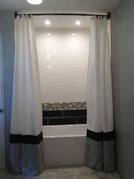 Floor-To-Ceiling Shower Curtains Bathroom