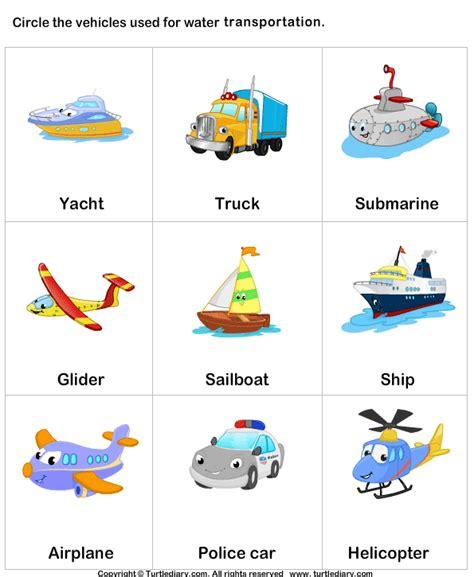 Transportation By Water Worksheet