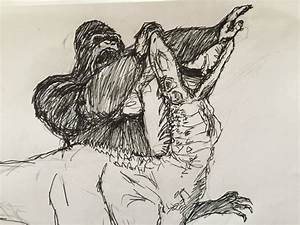 T Rex Drawing From King Kong   www.imgkid.com - The Image ...