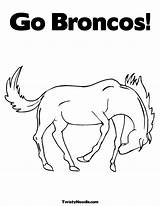 Broncos Coloring Denver Pages Printable Drawing Mascot Colouring Popular Getcolorings Getdrawings Coloringhome Library Clipart sketch template
