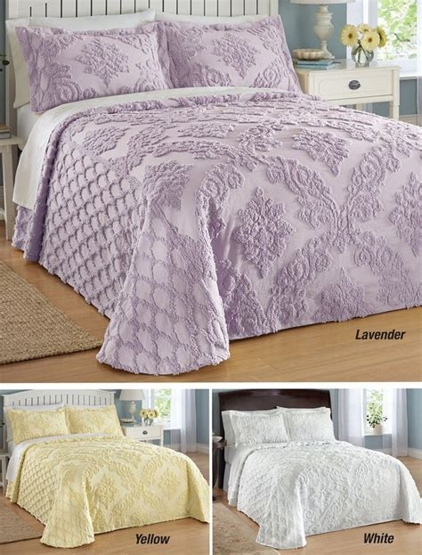 trellis damask chenille bedspread  collections