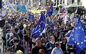 Tens of thousands in London protest Britain's EU departure ...