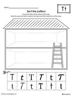 sort  uppercase  lowercase letter  worksheet