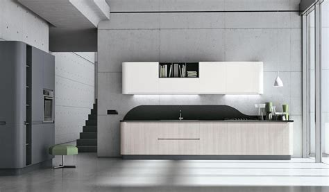 muebles de cocina de bordes curvos  ondulantes cocinas