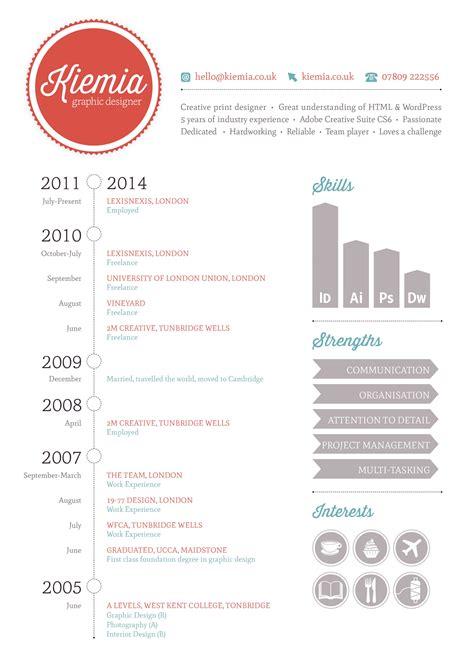 Simple Cv Sle by Graphic Design Cv Graphic Design R 233 Sum 233 Infographic