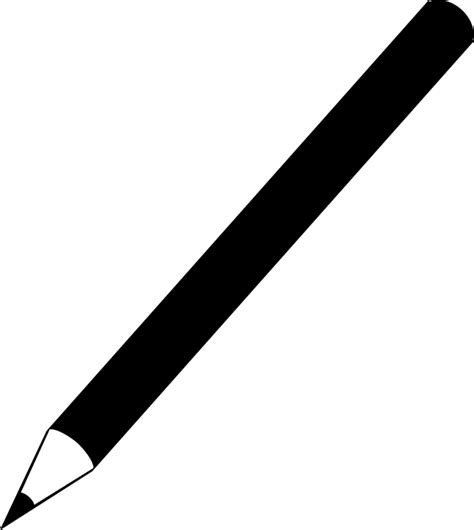 pencil clipart png black and white pencil crayon writing to 183 free vector graphic on pixabay
