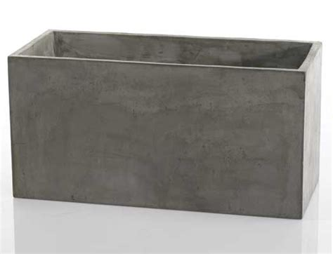 newport rectangular concrete planter moss manor