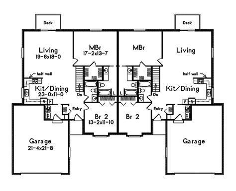 Simple Duplex Floor Plans  Joy Studio Design Gallery