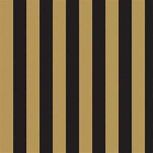 Gold And Black Striped Wallpaper