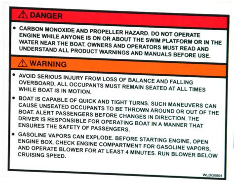 Yamaha Jet Boat Warning Sticker by Propeller Warning Labels Seen At The 2013 Tulsa Boat Show