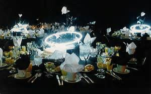 wedding decorations neon centerpieces futuristic designs of distinction
