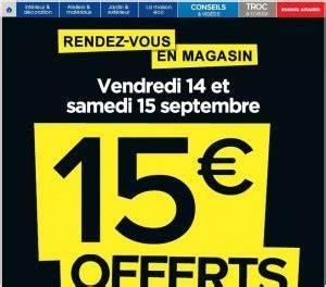 Promo Castorama 15 Par Tranche De 100 : castorama 15 euros de bons d 39 achats pour 100 d 39 achats ~ Dailycaller-alerts.com Idées de Décoration