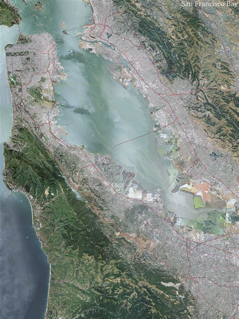 san francisco topo map  aerial photography