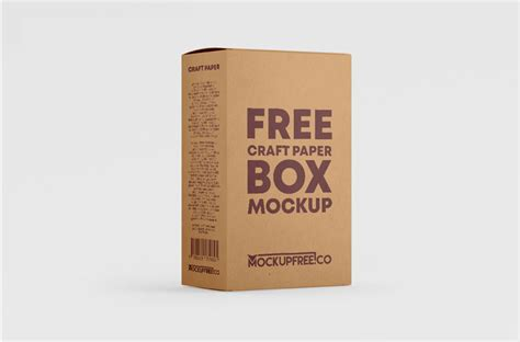 Present your design on this mockup. Free Kraft Paper Box Mockup | Mockuptree