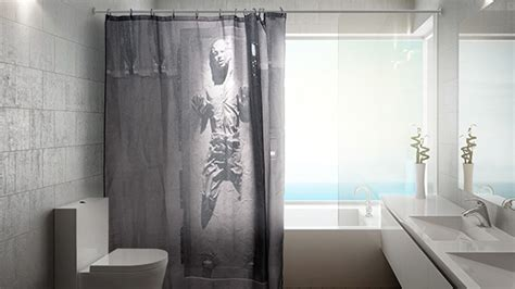 han frozen in carbonite shower curtain don t worry
