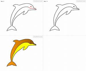 Fpencil: How to draw Dolphin for kids step by step