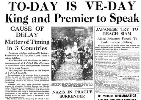 May holiday 2020 will mark the 1945 victory in Europe ...