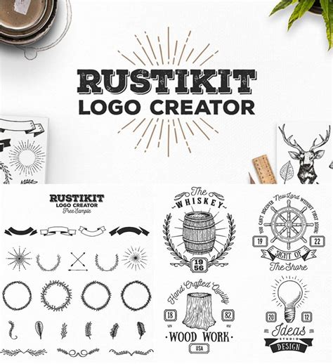 rustikit logo creator set