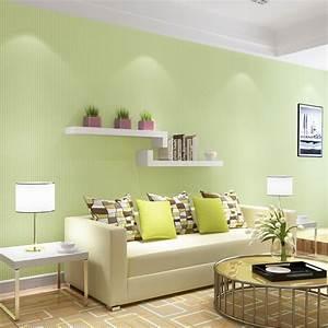Beibehang, Fresh, Green, Light, Green, Wallpaper, Non, Woven, Pure, Color, Color, Wallpaper, Living, Room
