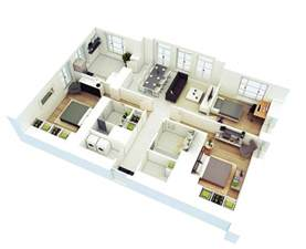 bathroom floorplans 25 more 3 bedroom 3d floor plans architecture design