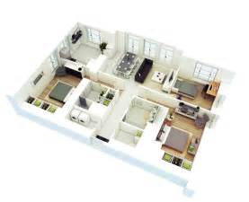 3 bedroom 3 bath house plans 25 more 3 bedroom 3d floor plans