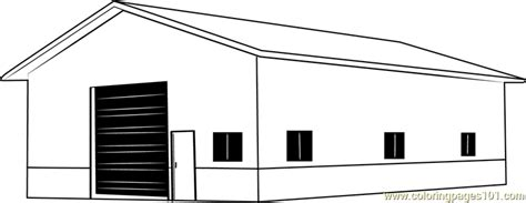 garage barn coloring page  barn coloring pages coloringpagescom