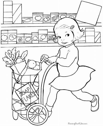 Coloring Pages Grocery Printable Raising Raisingourkids Books