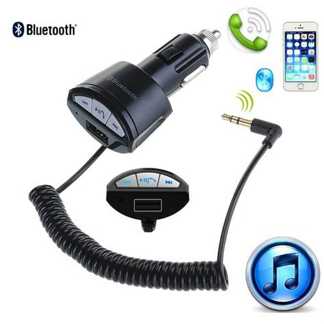Car Charger With Aux by A2dp 3 5mm Car Bluetooth Aux Stereo Audio