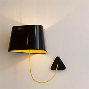 Applique Murale Nuage : applique suspendue grand nuage noir jaune 43cm designheure luminaires nedgis ~ Teatrodelosmanantiales.com Idées de Décoration