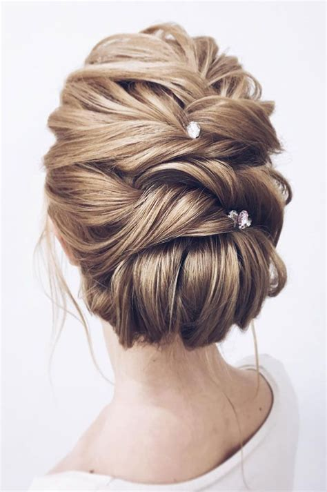 Updo Wedding Hairstyles For Medium Length Hair by The Most Bridal Updos Wedding Hairstyles