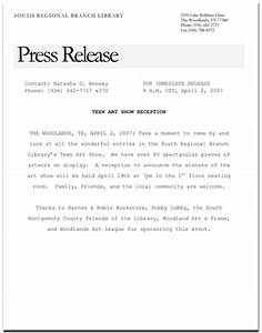 Art show press release format google search artist for Artist press release template