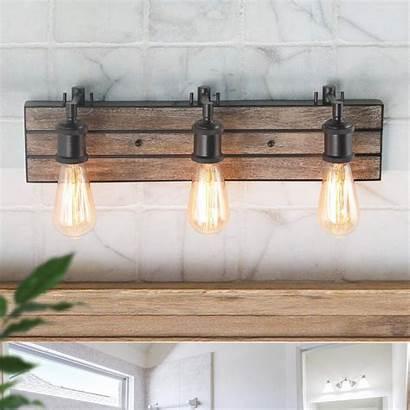Vanity Bathroom Rustic Lights Edison Barn Fixtures