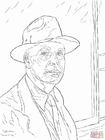Portrait Coloring Self Hopper Pages Edward Printable
