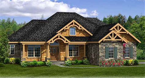 Rustic House Plan With Walkout Basement