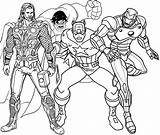 Coloring Superhero Pages Avengers sketch template