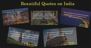 Best Quotes on ... India Visit Quotes