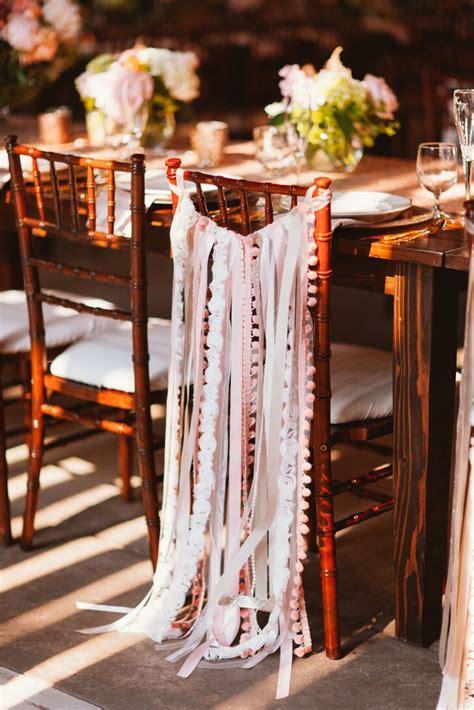 Hand Sewn Ribbon Chair Decorations