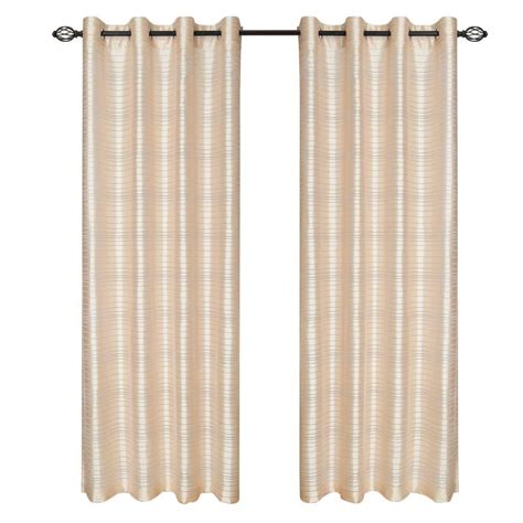 eclipse microfiber blackout beige grommet curtain panel
