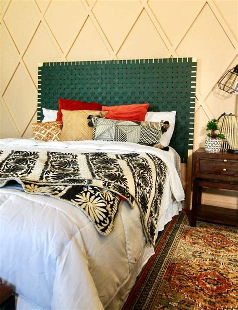 ashley basnight diy leather woven headboard  diy