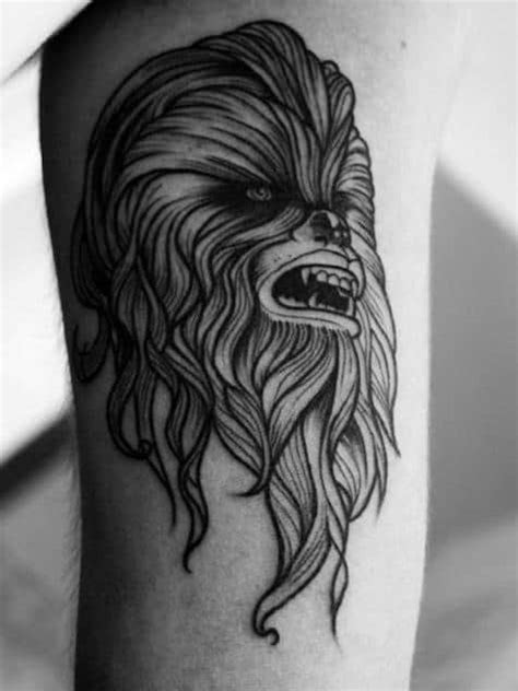 30 Chewbacca Tattoo Designs For Men - Star Wars Ink Ideas