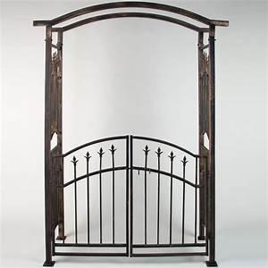 Arche De Jardin Leroy Merlin : arche de jardin avec portillon bronze 207 x 140 x 50 cm ~ Dallasstarsshop.com Idées de Décoration